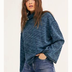 Free People Sunny Days Turtleneck Sweater NWT